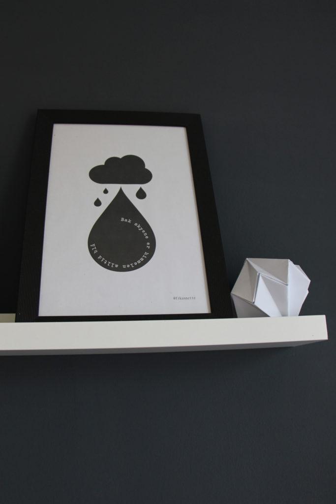 Bilderleiste mit Papier-Diamant