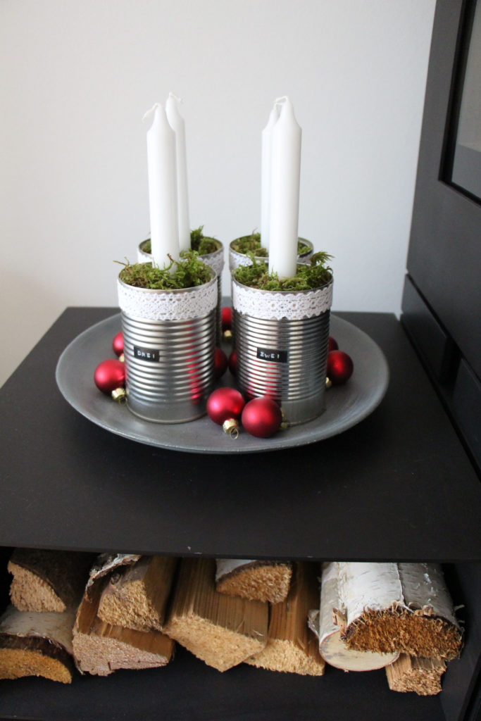 Adventskranz mal anders, DIY-Adventskranz