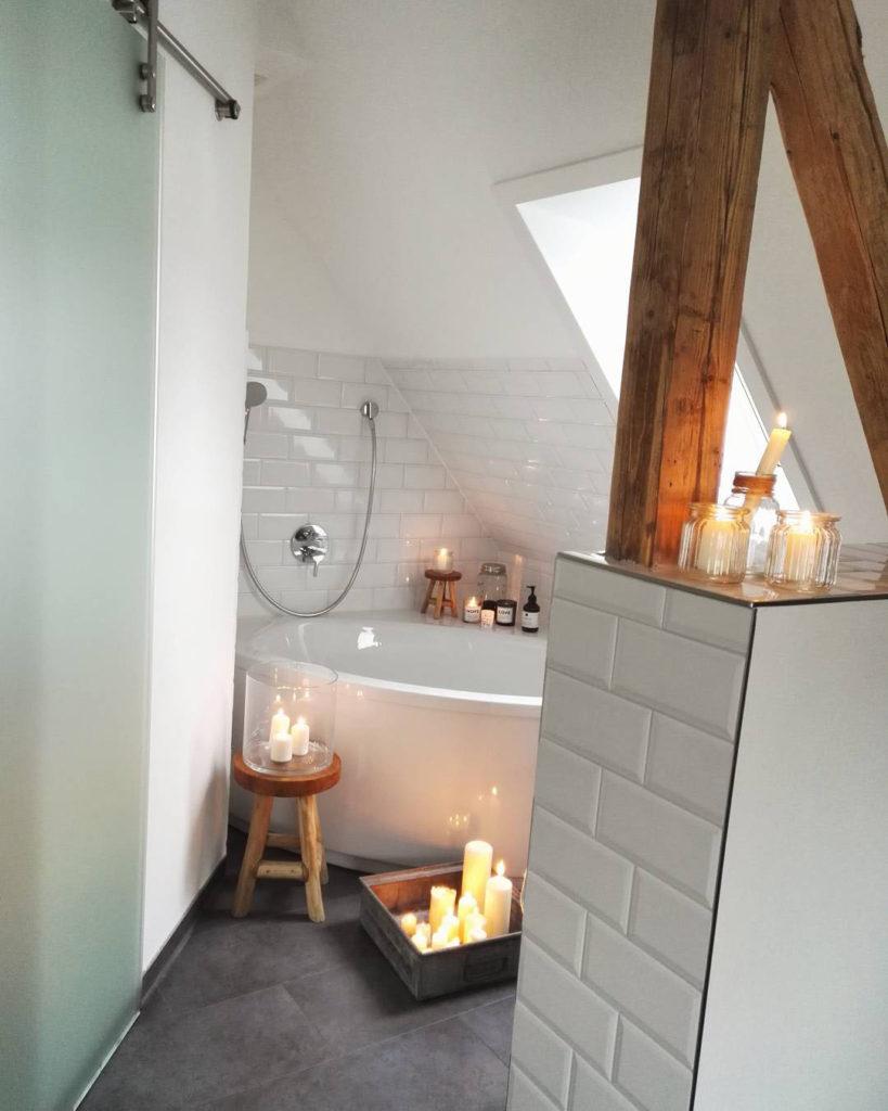 Badezimmer mit Kerzen