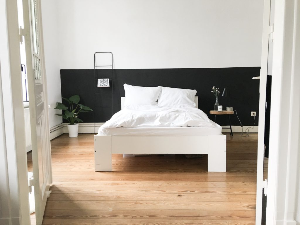 schlafzimmer puristisch