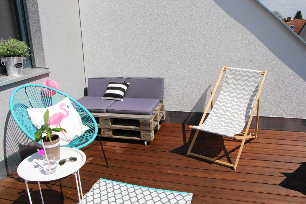 drau en wohnen dachterrasse im ibiza style. Black Bedroom Furniture Sets. Home Design Ideas