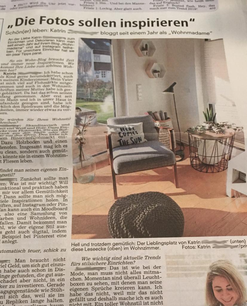 Zeitungsartikel Nürnberger Nachrichten